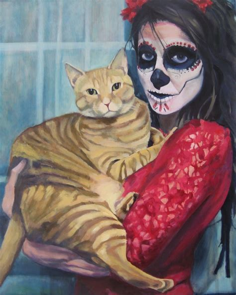 dead cat painting eileenfrench