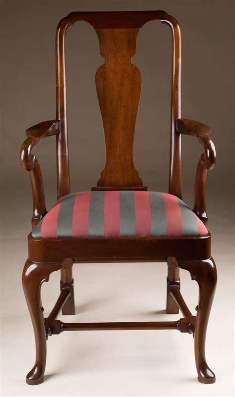 queen anne armchair mahogany queen anne style armchair