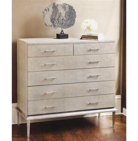 Silver Leaf Dresser by Kitsilano Coastal Style Ivory Grey Faux Shagreen Silver