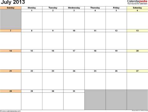 2013 printable calendar horizontal calendar template 2016
