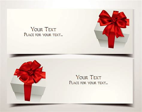 Free Holiday Gift Cards - holiday gift cards with red ribbons and bows free vector graphic download