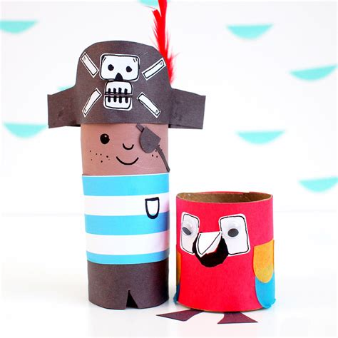toilet roll craft mollymoocrafts toilet roll crafts meet mr pirate and mr