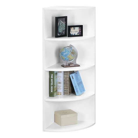 5 Tier Shelf Unit by 5 Tier White Wall Mounted Corner Shelf Storage Shelving