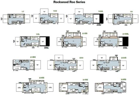 rockwood trailers floor plans forest river rockwood roo expandable travel trailer floorplans