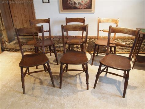 Cloverleaf Home Interiors Chairs Set Of 6 Kitchen C1870 Antiques Atlas