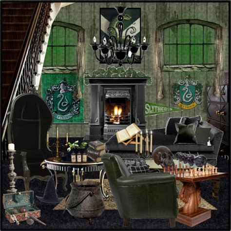 Slytherin Bedroom by Slytherin Common Room 812 Polyvore