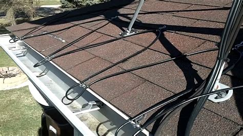 heated gutter cable installation easy heat cables