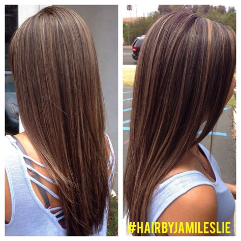 medium hairstyles with partial highlights beautiful natural dark brown hair with a medium golden