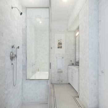 small narrow bathroom with shower layout google search side by side tub and shower design ideas