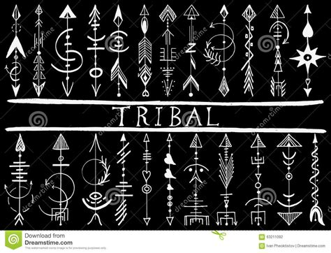 tribal hand drawn arrow stock vector image of american
