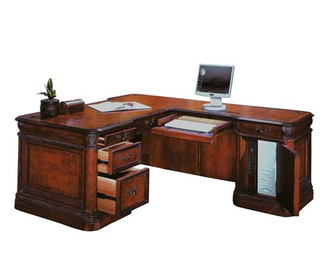 L Shaped Office Desks The Cheshire Home Office L Shaped Desk Set 2837 Traditional Furniture Traditional Furniture