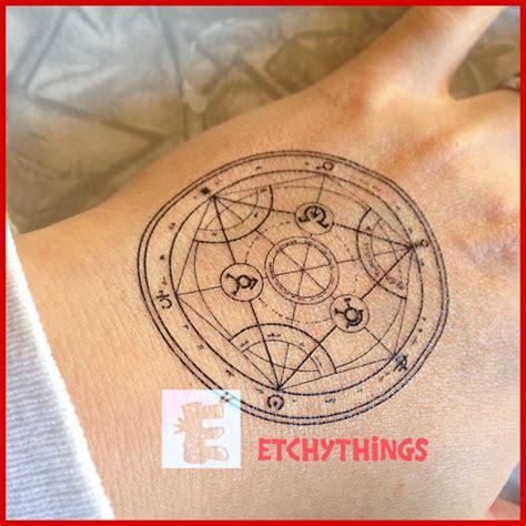 transmutation circle tattoo fma transmutation circle temporary human transmutation