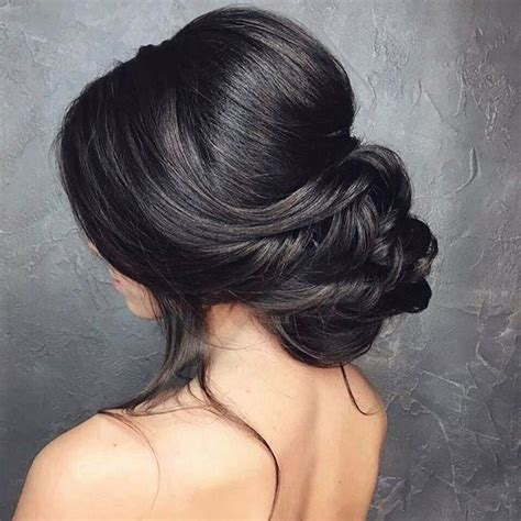 Wedding Hair Updo Low Bun by Low Bun Wedding Hair Bridal Chignon Low Updo And Chignons
