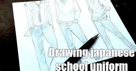 tutorial dasi sma cara menggambar seragam sekolah manga cowok lengkap mayagami
