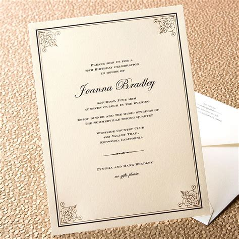 formal dinner invitation template cimvitation