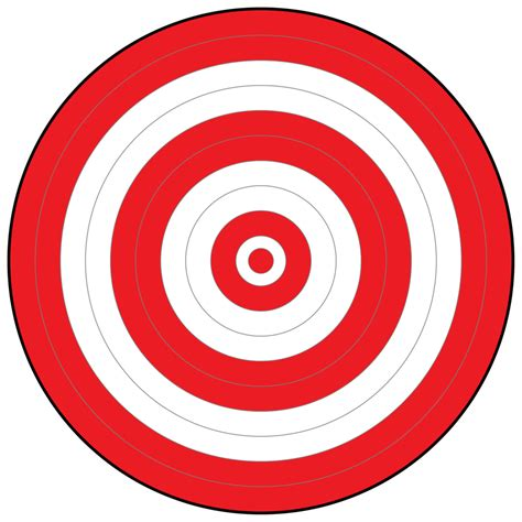 printable targets red bullseye picture clipart best