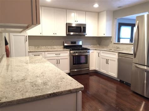 Colonial Granite With White Cabinets by Colonial White Granite Kitchen