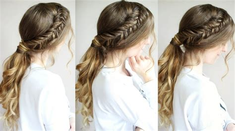 Braided Ponytail Hairstyles by Ponytail Hairstyle Tutorial Braided Ponytail Hairstyles