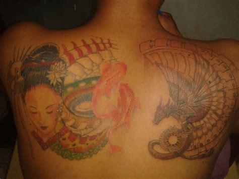 tattoo geisha dragon tattoo geisha and bio dragon by iesaacjere on deviantart