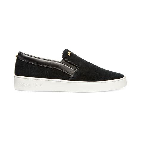 michael kors slip on sneakers michael kors michael keaton slip on sneakers in black