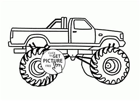 bigfoot truck coloring pages bigfoot car coloring page for transportation