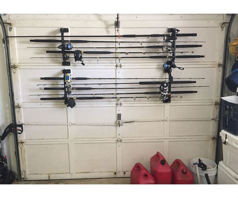 cobra storage garage door fishing rod racks tackledirect