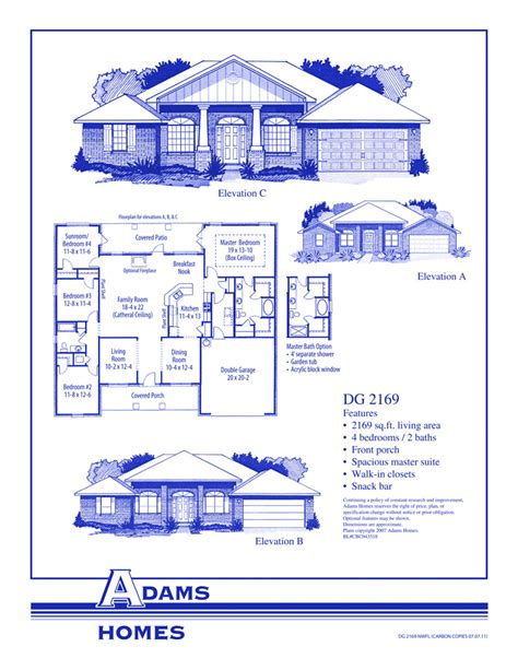 adams home floor plans saverna park adams homes
