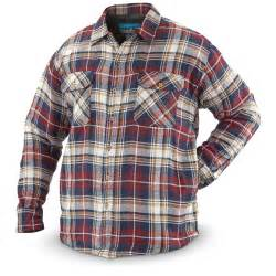 Quilted Flannel Jackets s quilted flannel shirt jacket 639198 insulated