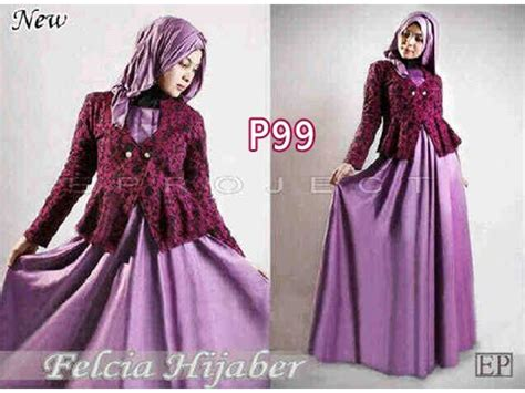 Baju Dress Gamis Blezer gamis modern blazer felcia p99 ep brokat formal feminim