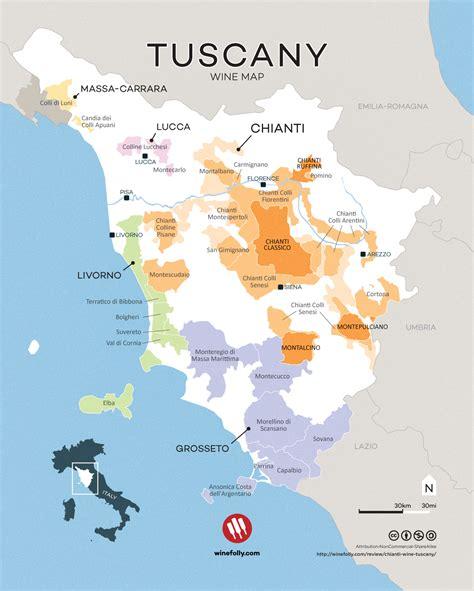 map of tuscany tuscany region italy map