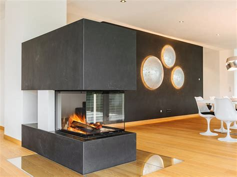 Raumtrenner Kamin 661 by Modern Puristisch Hilpert Feuer Spa