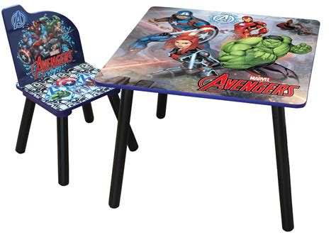 table and chair set for bedroom marvel avengers childrens wooden table and one chair set