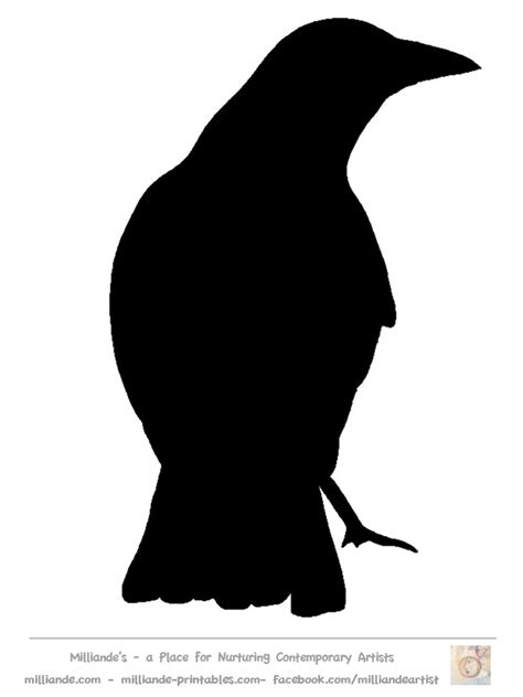 bird silhouettes stencils printable free quotes