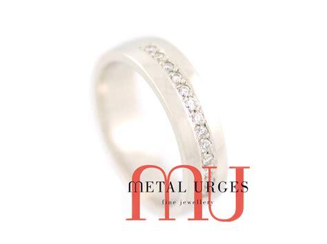 white and platinum wedding ring custom made in