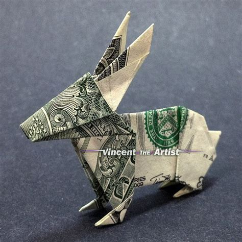 Origami Made Out Of Money - money origami bunny 65 best things made out of money