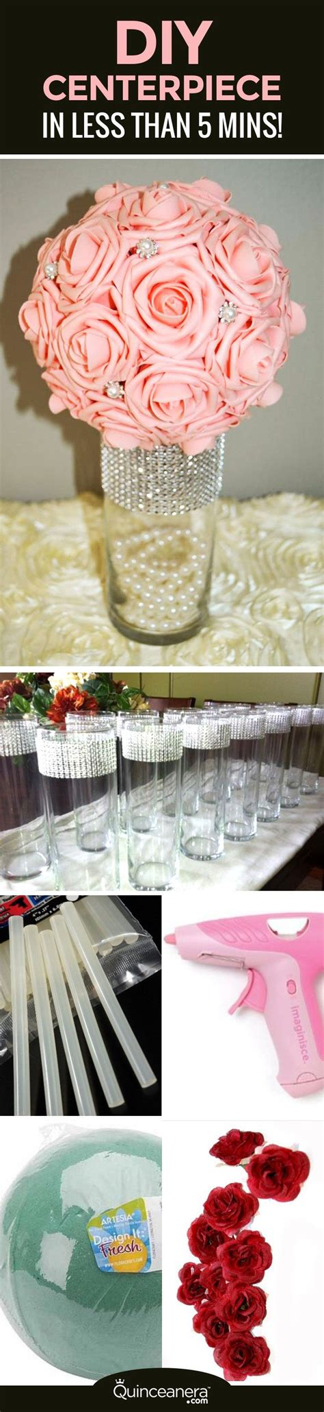 Diy Elegant Quinceanera Centerpiece In Less Than 5 Minutes How To Make Quinceanera Centerpieces