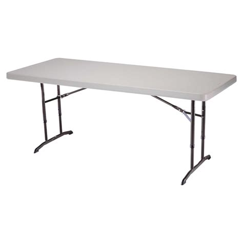 6 Ft Folding Table Lifetime 6 Ft Rectangle Commercial Adjustable Height Folding Table Almond Folding Tables