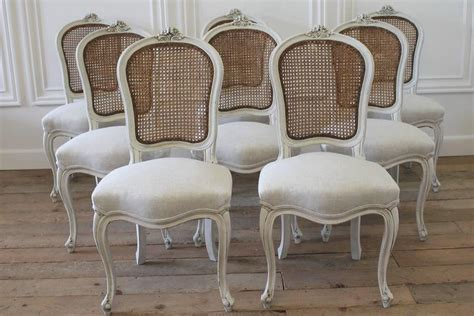 cane dining room chairs set of eight vintage french painted cane back dining