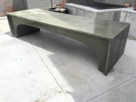 fiberglass benches mid century vintage stone and fiberglass architectural