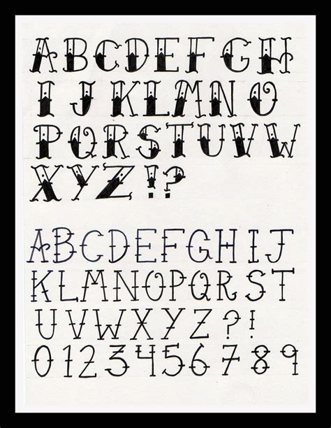 tattoo of alphabet a on hand 140 best best old school tattoo fonts images on pinterest