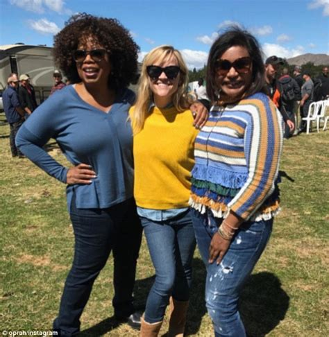 mindy kaling new movie oprah winfrey and reese witherspoon on set in new zealand