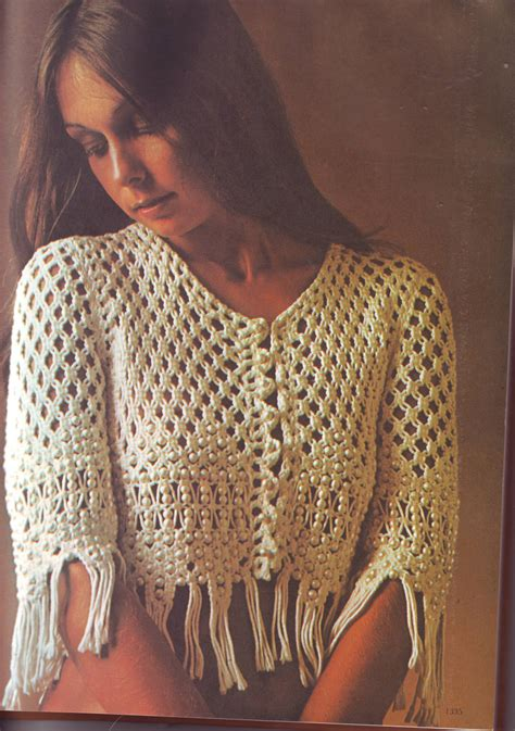 Macrame Designs - pdf macrame pattern beaded macrame jacket by
