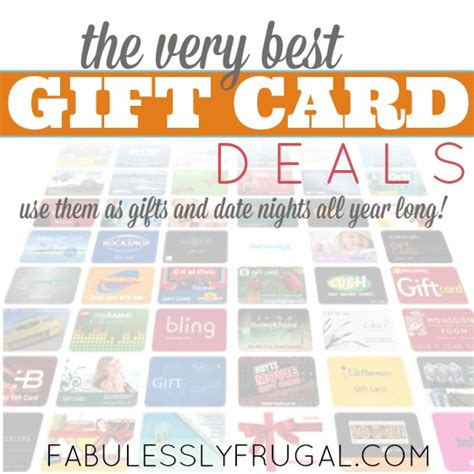 Who Has Gift Card Deals - gift cards
