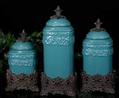 teal kitchen canisters turquoise kitchen canisters for the home pinterest