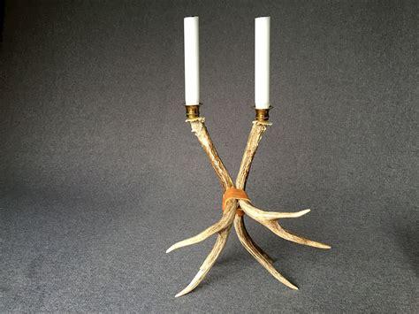 Design My Garage deer antler candle holder 1 of a kind object design