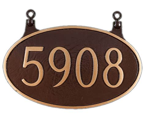 house number signs personalized 2 sided house hanging number sign