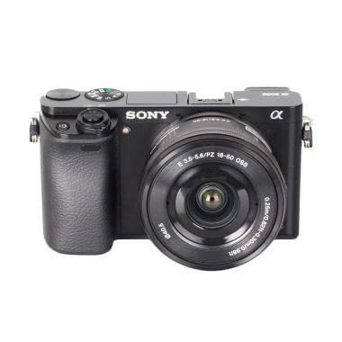 Kamera Mirrorless Sony Alpha A6000 jual sony alpha a6000 kit 16 50mm kamera mirrorless black harga kualitas terjamin