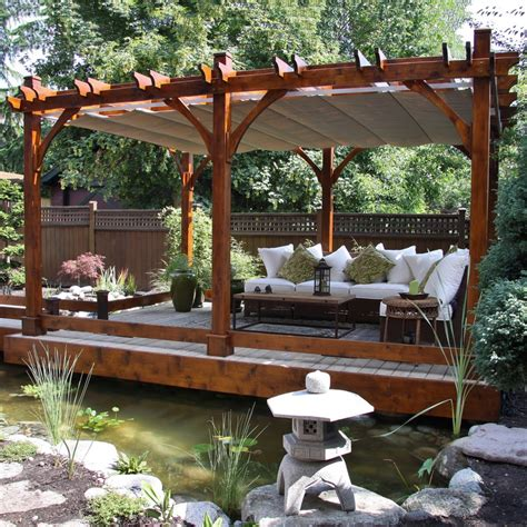 Exterior 24 Cool Designs Of Pergola Roof For Patio Ideas Outdoor Patio Designs