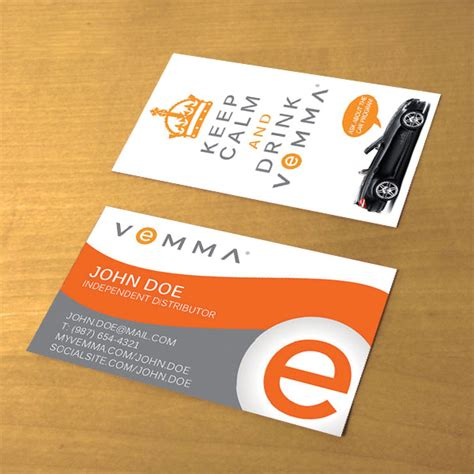 vemma business card template catchy phrase for business card just b cause