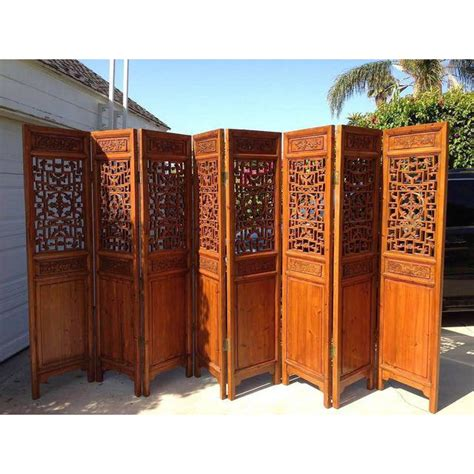 8 panel antique chinese room divider chairish